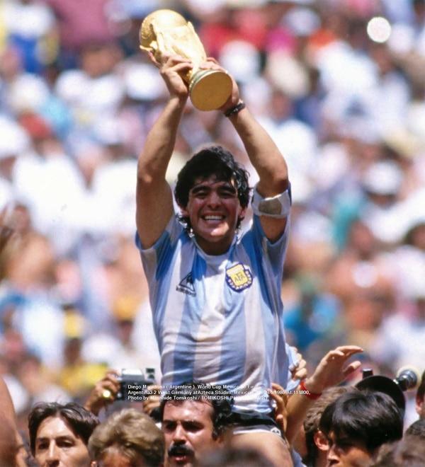 En el Mundial de México, en 1986, Maradona forjó su figura de héroe nacional
