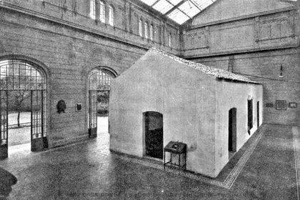 """El monumental """"Templete"""" que contenía al Salón de la Jura."""