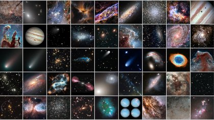 Una composición de las mejores fotografías que tomó el prolífero telescopio en casi 30 años