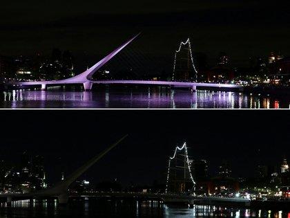 El Puente de la Mujer en Puerto Madero, Buenos Aires