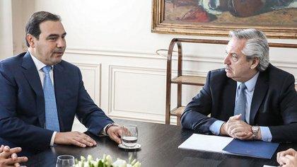 Alberto Fernández y Gustavo Valdés (Foto de archivo)