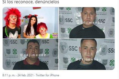 Dos colombiano y un ex agente mexicano, pertenecientes a una banda de roba casas (Foto: Captura de pantalla)
