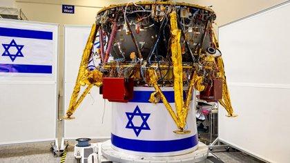 El módulo espacial Beresheet antes de despegar hacia la Luna