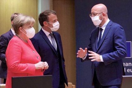 Angela Merkel, Emmanuel Macron y Charles Michel condenaron los ataques en Viena (Chr.Dogas/European Council /dpa)