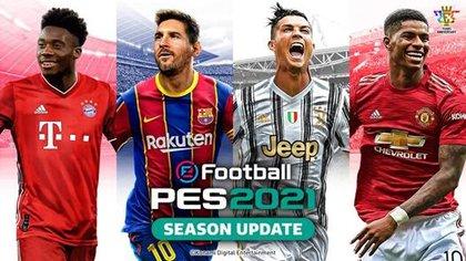 Messi y Cristiano Ronaldo, juntos en la portada de eFootball PES 2021 Season Update (Foto: Konami)
