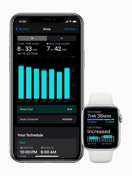 Sleep está disponible en el sistema operativo watchOS 7