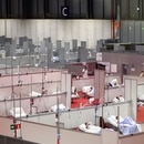 General view of a temporary hospital inside IFEMA conference centre, amid the coronavirus disease (COVID-19) outbreak, in Madrid, Spain, April 2, 2020. REUTERS/Sergio Perez