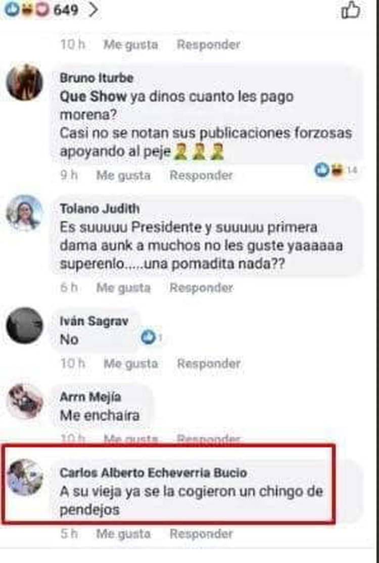 Carlos Alberto Echeverría Bucio negó haber sido él quien escribió los mensajes (Foto: Facebook)