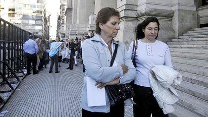 Sara Garfunkel, madre del fiscal, en tribunales (archivo DyN/ Tony Gómez)