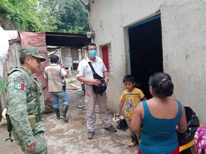 Según la Coordinación Nacional de Protección Civil, hay más de 184.000 personas afectadas por lluvias en el sureste del país (Foto: Cuartoscuro)