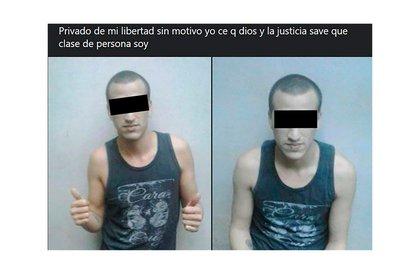 """Musculosa: Márquez en uno de sus posteos, donde dice que la Justicia """"sabe qué tipo de persona"""" es."""