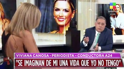 Viviana Canosa con Fabián Doman en Intratables (Foto: Intratables, América)