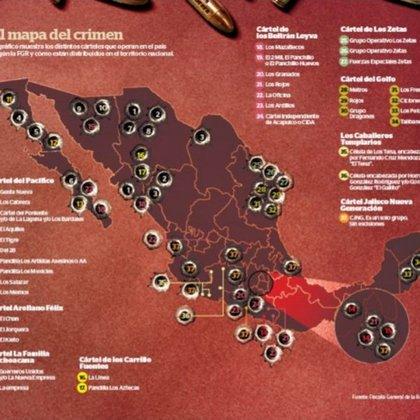 Cárteles mexicanos (Foto: Radiografía de la ominosa presencia de los cárteles mexicanos)