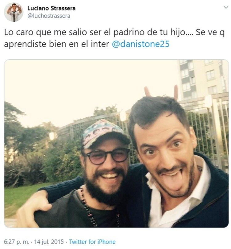 El mensaje de Luciano Strassera contra Daniel Osvaldo tras ver las fotos en el boliche con Gianinna Maradona