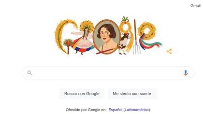 El doodle de Google en honor a Zofia Stryjeńska