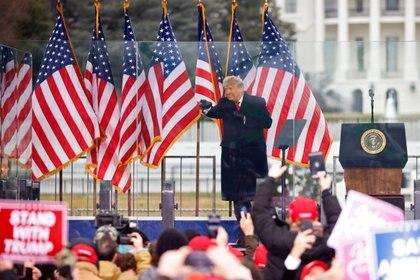 Trump arengó a sus seguidores en Washington (Reuters)