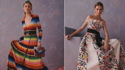 Estos son algunos de los diseños por los que ha sido señalada la casa de moda Carolina Herrera (Foto: Especial)