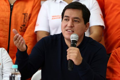 Andrés Arauz aseguró que si vence en las elecciones romperá el acuerdo con el FMI que firmó Lenín Moreno.