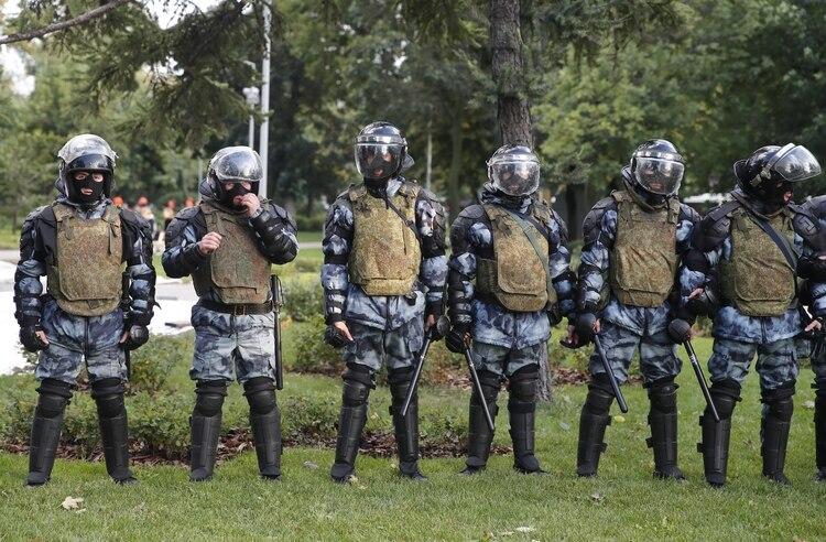 El despliegue policial del Kremlin fue imponente (REUTERS/Maxim Shemetov)