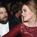 (FILES) In this file photo taken on February 15, 2016 singer Adele (R) and her husband, charity entrepreneur Simon Konecki (2R) attend The 58th GRAMMY Awards at Staples Center in Los Angeles, California. - Global superstar Adele, one of the world's top recording artists, has split from her husband, UK media reported April 20, 2019, citing the British singer's representatives. (Photo by Larry BUSACCA / GETTY IMAGES NORTH AMERICA / AFP)