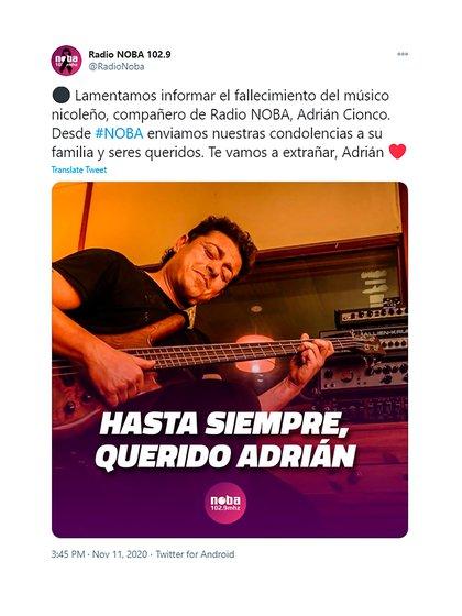 El mensaje de Radio Noba