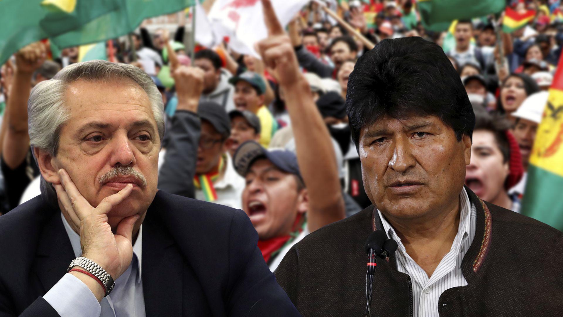 Ante la escalada de la crisis, Alberto Fernández llamó a Evo Morales