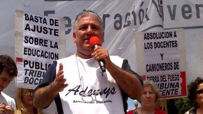 Jorge Adaro, secretario adjunto de Ademys, uno de los gremios más combativos dela Ciudad de Buenos Aires