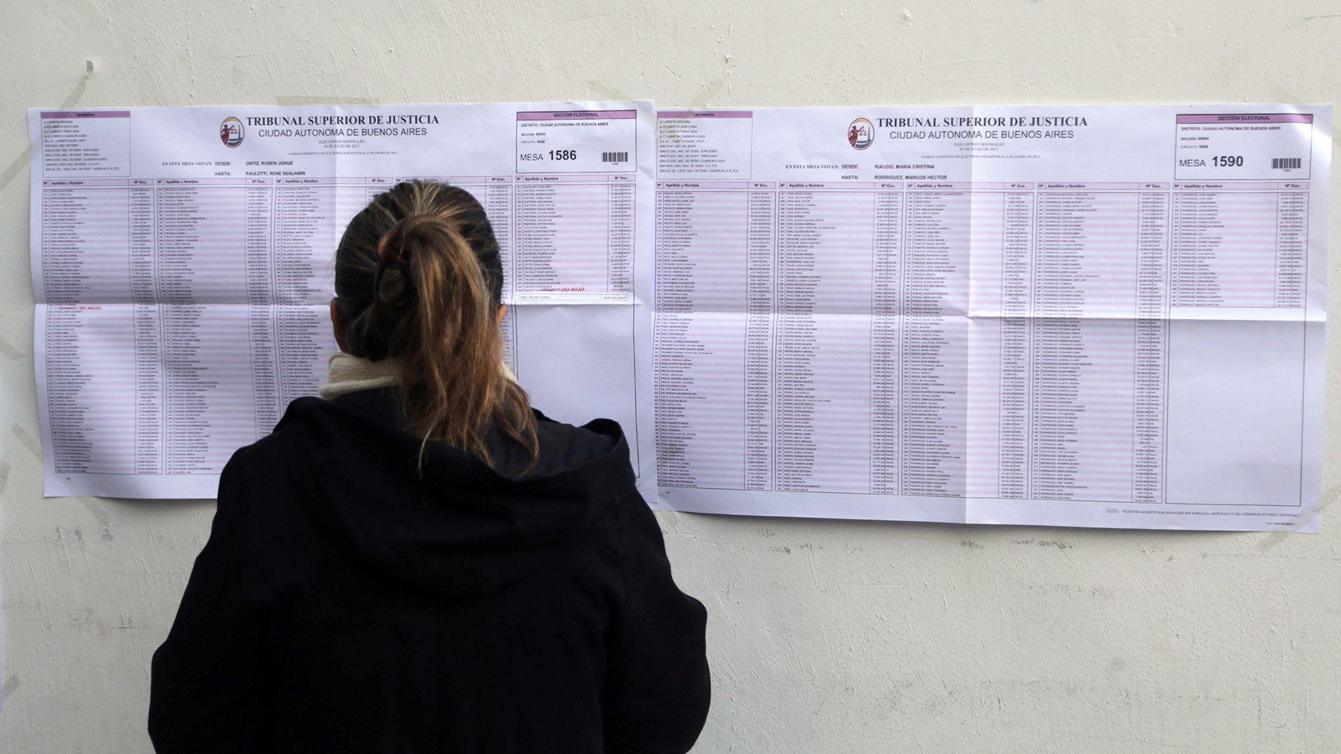 A partir de hoy se puede consultar el padrón electoral