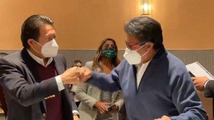 Ricardo Monreal y Mario Delgado se reunieron (Foto: Twitter / @RicardoMonrealA)