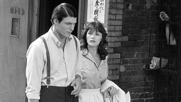 """Margot Kidder y Christopher Reeve durante el rodaje de """"Superman"""" (AP)"""