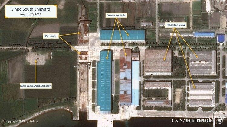 La zona de construcción del submarino en el astillero (CSIS/Airbus)