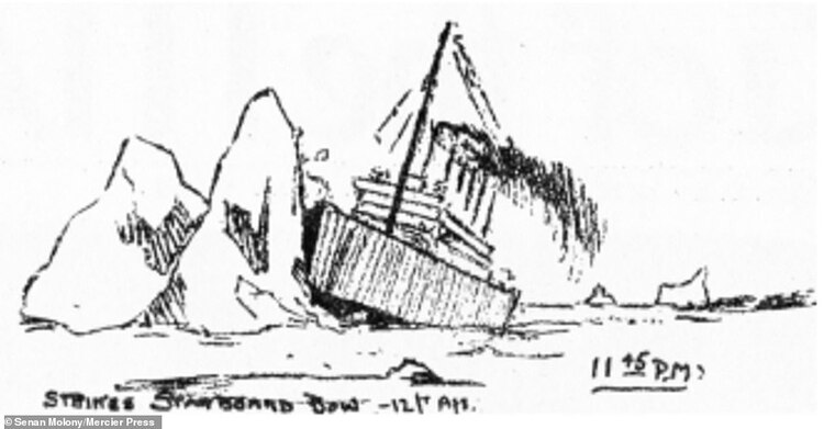 Ilustración del hundimiento del Titanic