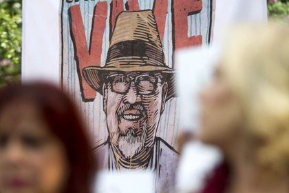 Una imagen en honor al periodista Javier Váldez después de su asesinato en México (Foto: Cuartoscuro)