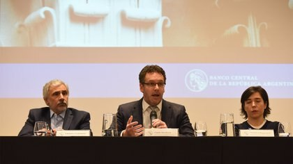 Guido Sandleris (centro), presidente del BCRA. (Franco Fafasuli)