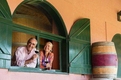 Herve Joyaux Fabre y su esposa Diane - Propietarios Fabre Montmayou