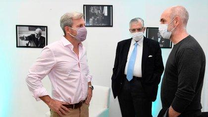 Rogelio Frigerio, Ricardo López Murphy y Horacio Rodríguez Larreta