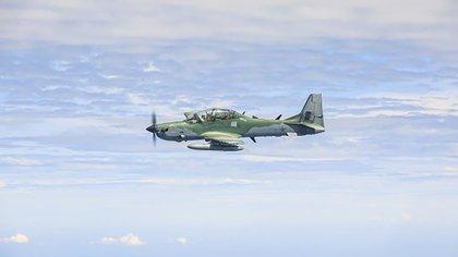 Un A29 Super Tucano fabricado por la empresa brasileña Embraer (Fuerza Aérea de Brasil)