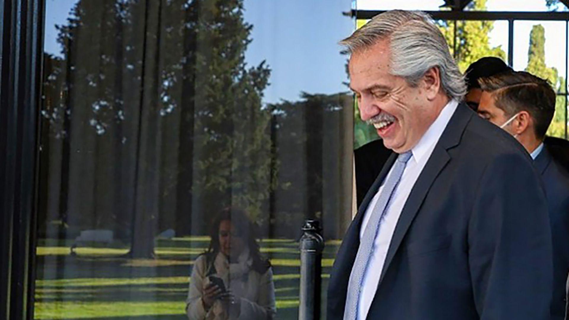 Alberto Fernández junto a Cristina Kirchner en la Quinta de Olivos