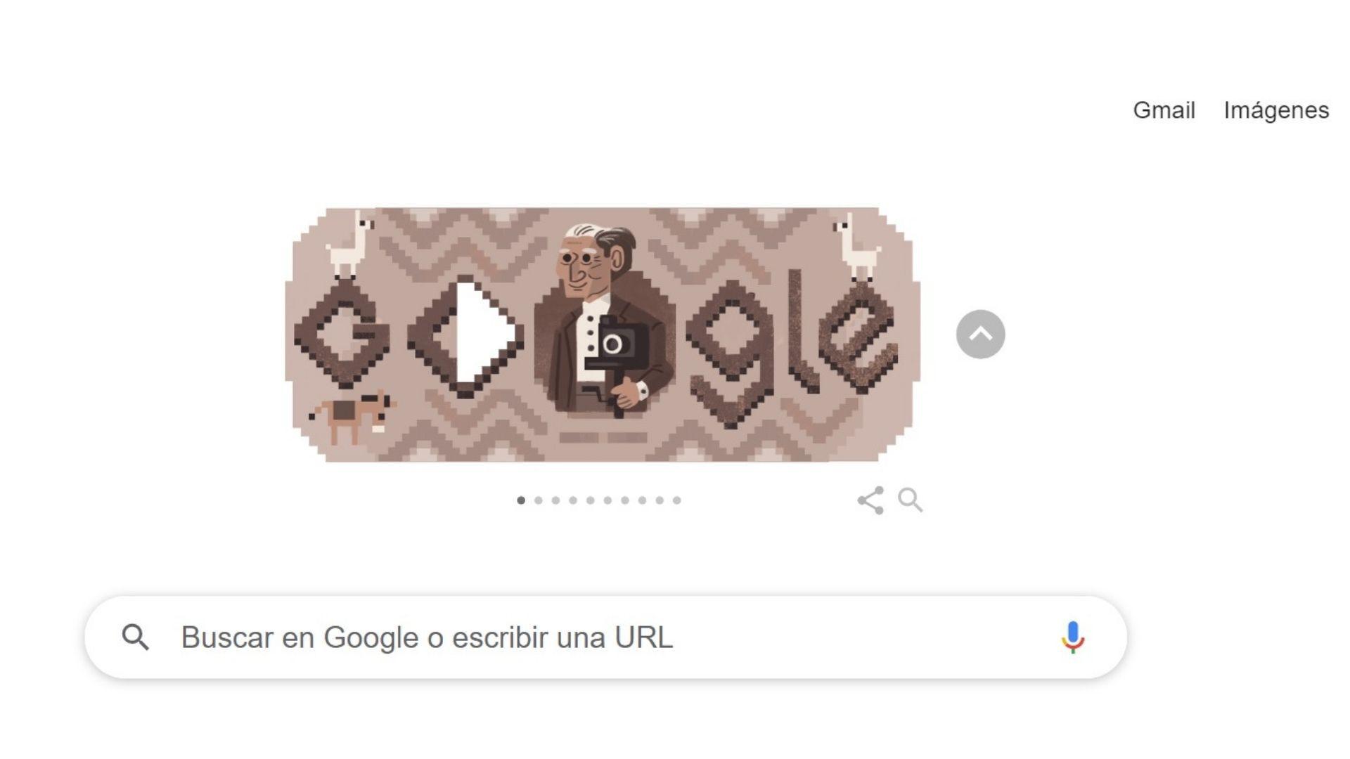 Google dedicó su doodle a recordar el nacimiento del fotógrafo peruano Martín Chambi