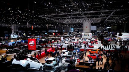 Una vista general del Congreso Palexpo, donde se hospeda la edición 88° de la gran cita mundial de la industria automotriz (Reuters/Denis Balibouse)