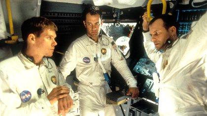 """Kevin Bacon, Tom Hanks y Bill Paxton en """"Apollo 13"""" (Shutterstock)"""