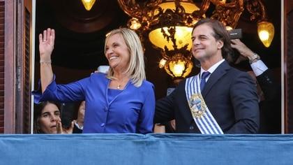 Con el presidente Luis Lacalle Pou