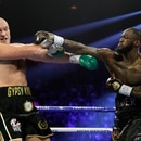 Boxing - Deontay Wilder v Tyson Fury - WBC Heavyweight Title - The Grand Garden Arena at MGM Grand, Las Vegas, United States - February 22, 2020 Deontay Wilder in action against Tyson Fury REUTERS/Steve Marcus