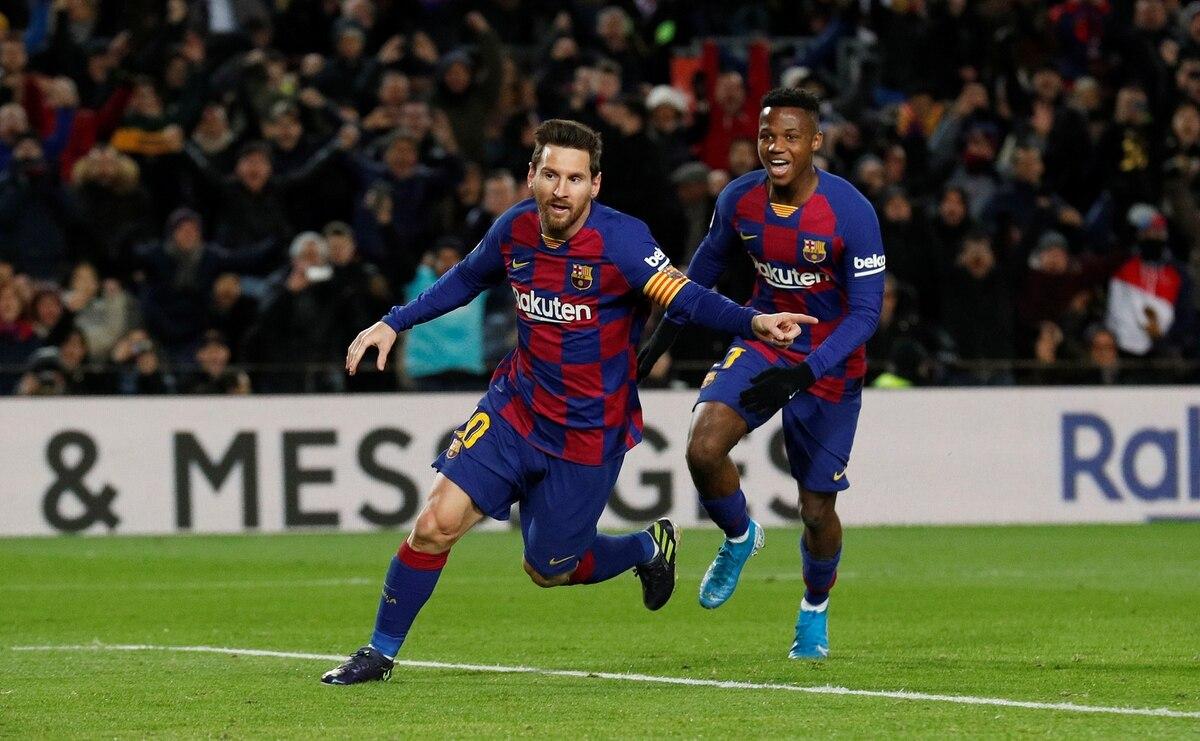 Con gol de Messi, Barcelona venció al Granada en el debut de Setién y se mantiene en la cima de La Liga - Infobae