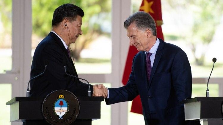 Xi Jinping y Macri en Olivos, en conferencia de prensa durante el G20 (Foto: Adrian Escandar)