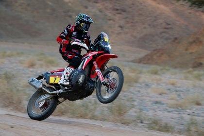 La primera participación de Kevin Benavides en el Dakar fue en el 2016 (REUTERS/Hamad I Mohammed)