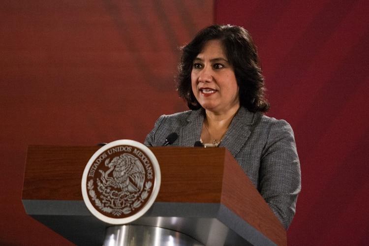 Irma Eréndira Sandoval, secretaria de Función Pública, dio positivo a COVID-19 desde el pasado 20 de abril (Foto: Galo Cañas/Cuartoscuro)