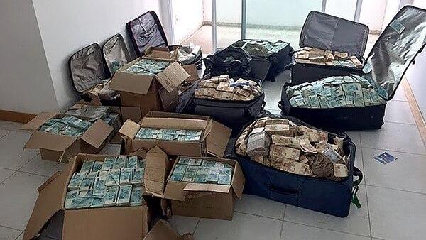 El dinero encontrado en el apartamento que utilizaba Vieira Lima