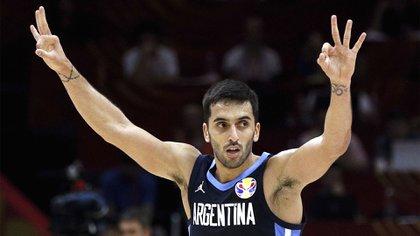 Facundo Campazzose quedó con el premio al MVP en dos partidos de Argentina(AP Photo/Andy Wong)