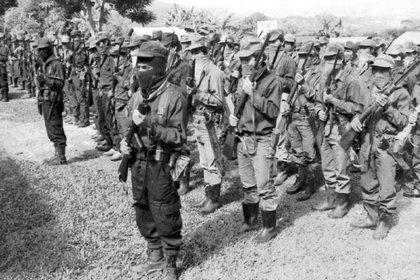 Una imagen del Ejército zapatista